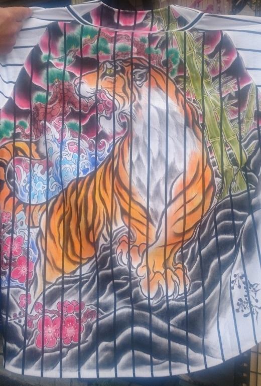 阪神タイガース 手描きユニフォーム 松竹梅