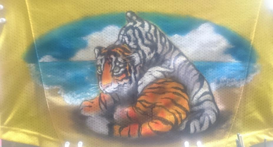 阪神タイガース 手描きユニフォーム 子虎