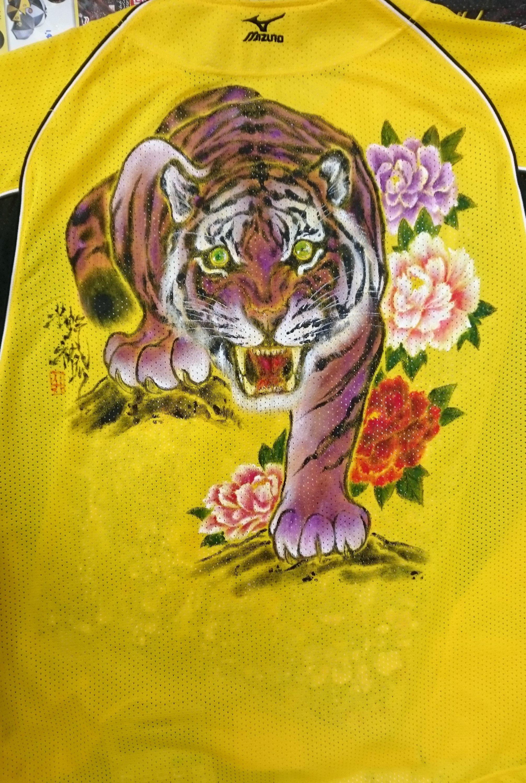 阪神タイガース 手描きユニフォーム 紫の虎