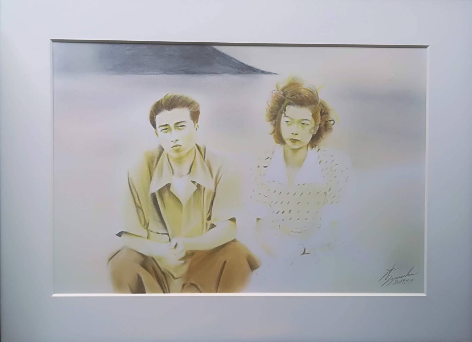 70年前の恋人 色鉛筆