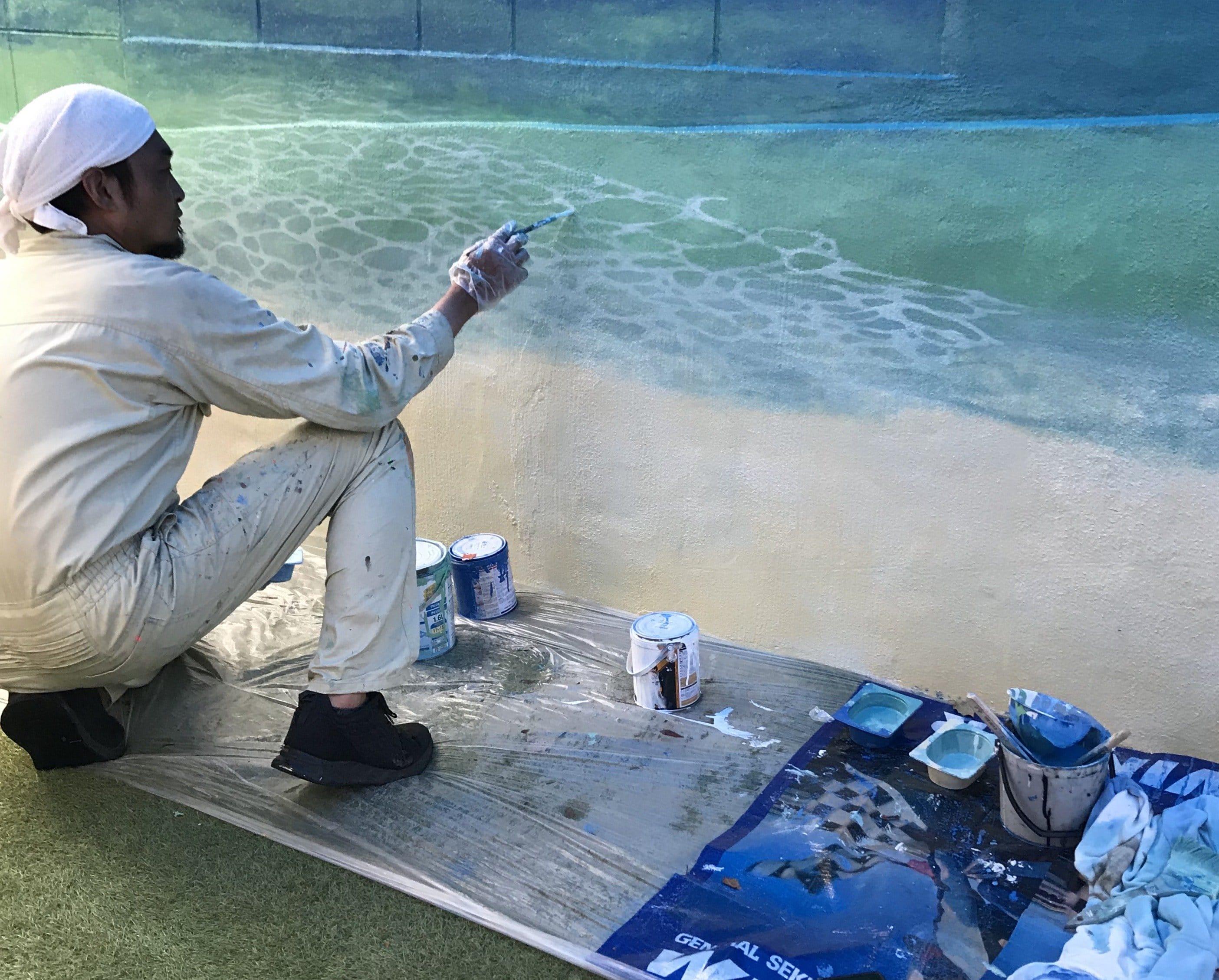 壁画 ラニカイの海